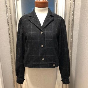 VINTAGE RALPH LAUREN PLAID CROPPED JACKET/ COAT